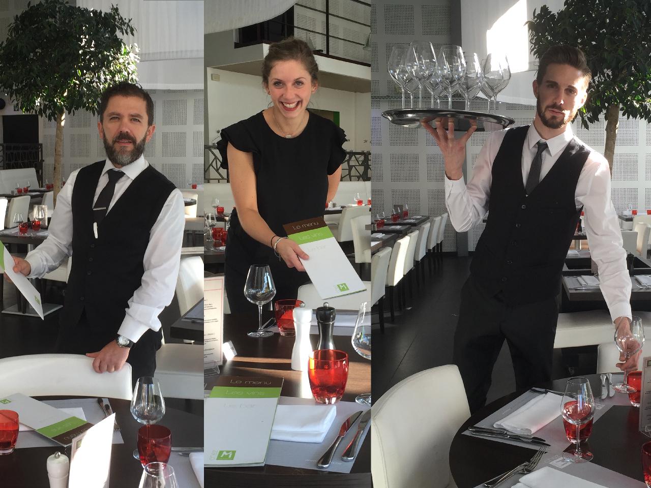 L'équipe de service : Maud, Régine, Robert et Audric