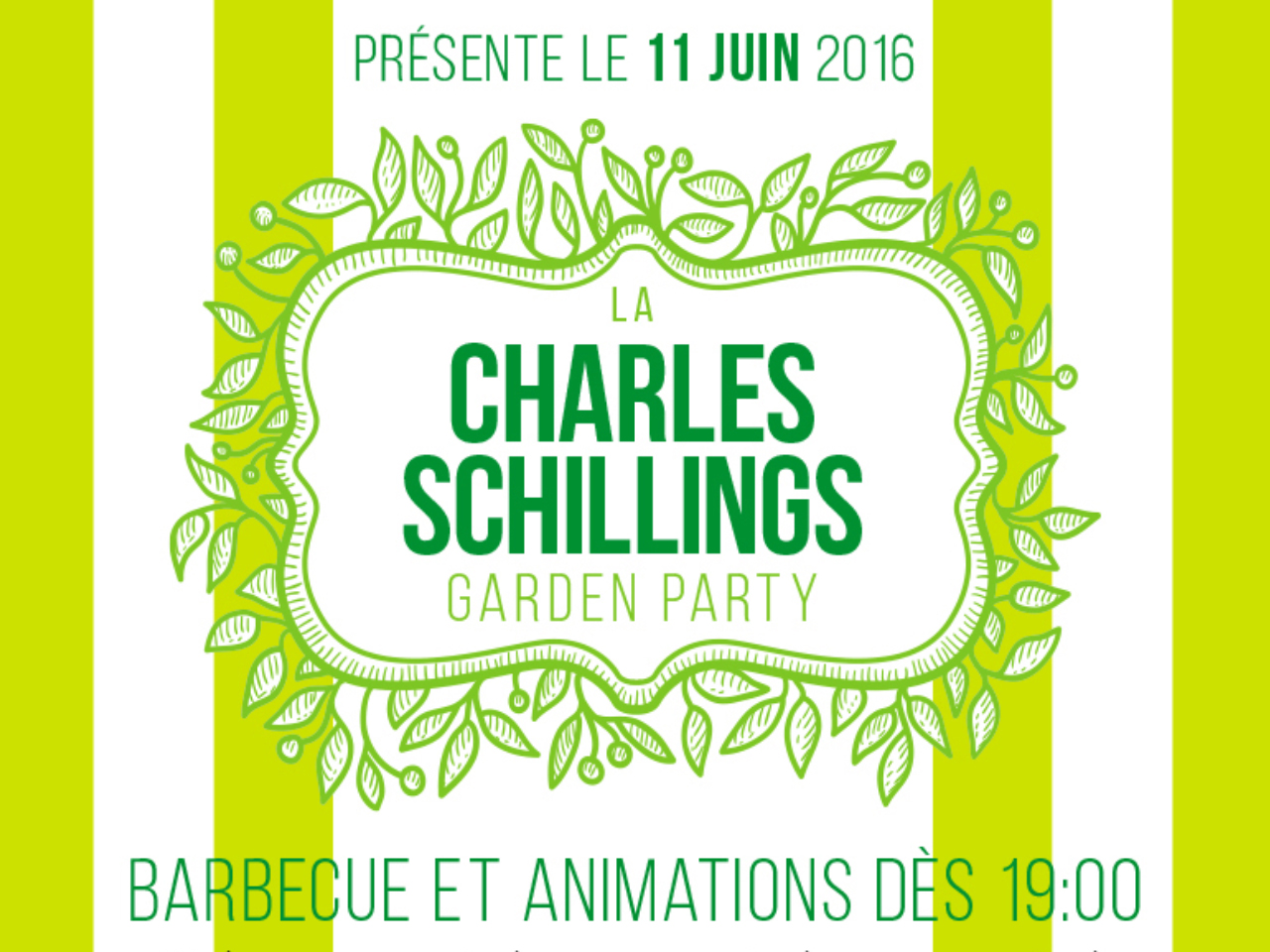 Vidéo et photos de Garden Party « Charles Schillings »